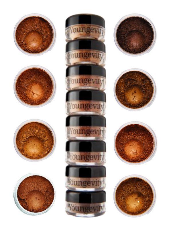 Mineral Makeup Sample Tower - Medium to Dark