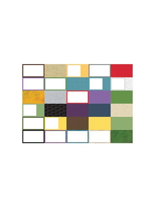 Pocket Wonder Designer Coordinates Journal Cards by Lauren Hinds- Set 30